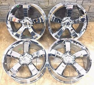 20 20 Inch Dodge Charger Srt Magnum Challenger Chrome Wheels Rims Set Of 4 2360