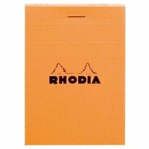 Rhodia Staplebound Notepad Orange Lined 80 Sheets 2 X 3 R10600 New
