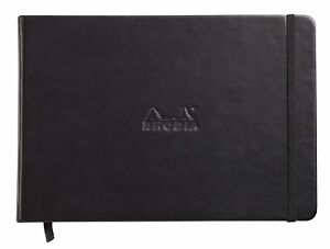 Rhodia Webnotebook Landscape Black Lined 96 Sheets 5 5 X 8 25 118249