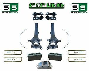 6 3 Spindle Block Lift Kit For 2004 2018 Nissan Titan 2wd W Cb Spacer
