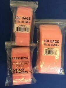 1000 2000 3000 2x3 To 18x24 Pink Anti static Ziplock Bags 4mil Hd Reclosable Pas