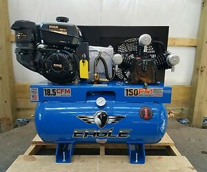 9 5hp Gas Eagle 30 Gallon Tank Kohler Es Air Compressor 18 5 Cfm 100 Psi