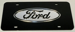 Ford Chrome Mirror License Plate Auto Tag F 150 Truck Diesel