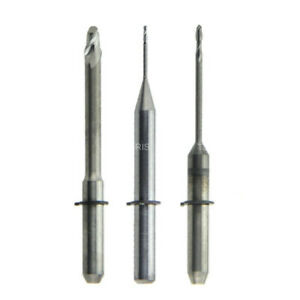 3 Pcs Compatible Wieland Dental Cad Cam Zirconia Milling Burs 0 7 1 0 2 5mm