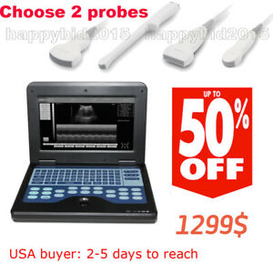 Promotion full Digital Portable Ultrasound Scanner Machine With 2 Probes
