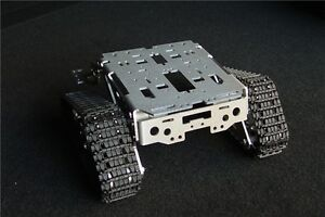 Metal Aluminum Alloy Smart Tank Chassis Crawler Robot Chassis Wali