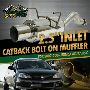 For 02 06 Acura Rsx Direct Bolt On Stainless Steel Chrome Exhaust Muffler 4 Tip