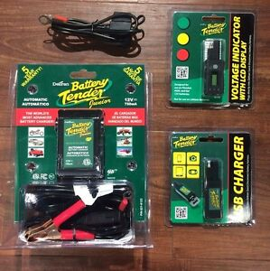 Battery Tender Jr Voltage Indicator Usb Charger Lead 12v Motorcycle Atv
