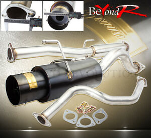 92 95 Civic Eg6 Hatch 70mm Piping Catback Steel Exhaust System 4 5 Tip Gunmetal
