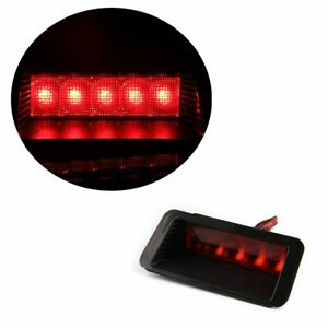 Universal Style Red 5 Led 3rd Third High Mount On Tail Brake Stop Light Lamp New