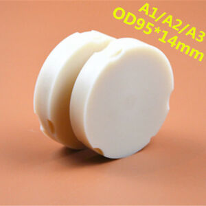 5 Pieces Od95 14mm Zirkonzahn System Dental Pmma Block Discs For Milling System