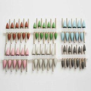50 Pcs Dental Lab Polishing Grinding Burs Rubber Silicone Flexible Polisher Burs