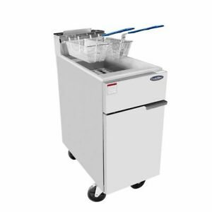 Atosa 50 Lb Pound Heavy Duty Large Commercial Deep Fryer Natural Gas 136k Btu s