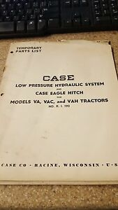 Case Low Pressure Hydraulic System Case Eagle Hitch Models Va Vac Vah