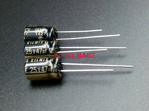 Elna Japan 47uf 25v Rfs Audio Grade Electrolytic Capacitors 10pcs 20pcs 50pcs