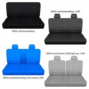 Afcc Ford F 150 250 350 Cotton Front Bench Truck Seat Cover Choose Color Style