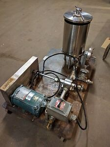 Ertel Stainless Steel Portable Transfer Pump And Filters Former Cosmetic Use