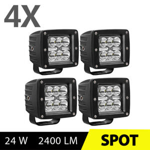 2x 5inch 24w Led Work Light Flood 4wd Offroad Reverse Truck Suv Ute Flush Mount