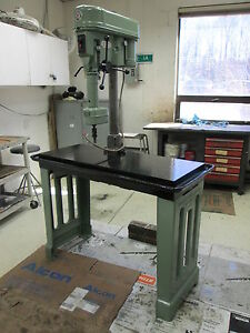 Rockwell Delta 15 665 Drill Press W telco Series 3 750 Tapping Head 230 460v 3ph