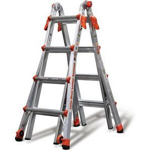 Little Giant Ladder Systems 17 Ft Aluminum Multi position Ladder 300lb Capacity