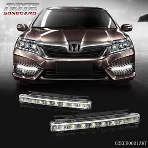 Drl 2x Slim Fog Daytime Daylight Running Light Lamp 8 Smd Led White