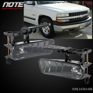 For 00 06 Chevy Suburban Tahoe Bumper Fog Lights Driving Lamps Smoke