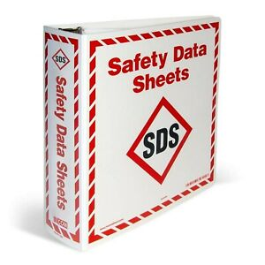 Brand New Ghs Safety Large Sds Binder With A z Divider