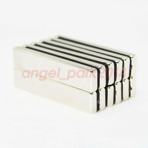 25 50pcs N50 Strong Big Block Fridge Magnet 50x10x4mm Super Rare Earth Neodymium