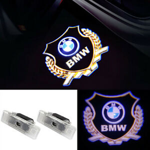 2x Bmw E39 E53 E52 Z8 Led Door Step Welcome Courtesy Light Shadow Logo Projector