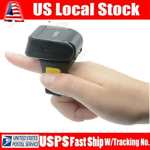 Us Handheld Wireless Bluetooth Ring Finger Barcode Scanner For Android Ios Win7