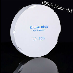 1 Piece Dental Zirconia Ceramic Blocks Material Zirkonzahn System Ht Od95 18mm
