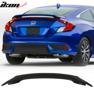 Fits 16 18 Honda Civic X 10th Gen 2dr Coupe Oe Factory Style Trunk Spoiler Abs