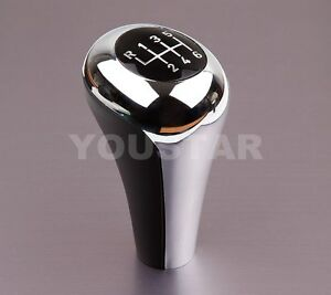 Us Seller 6 Speed Manual Gear Shift Knob For Bmw Chrome Black