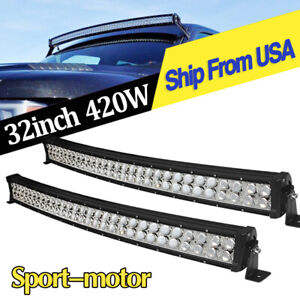 4x 7inch 51w Led Driving Lights Spot Jeep Truck Boat Reverse Pods Offroad Round
