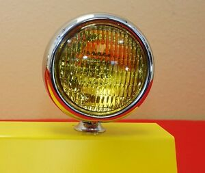 5 Round Amber Fog Light Vintage Single Antique
