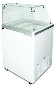 Commercial Ice Cream Dipping Cabinet Straight Glass edc 4