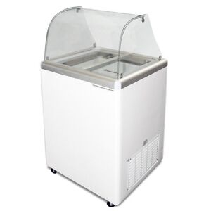 Commercial Ice Cream Dipping Cabinet Curved Glass edc 4c