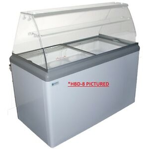Commercial Ice Cream Dipping Cabinet W led hbd 8