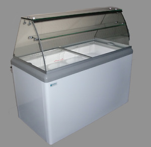 Commercial Ice Cream Dipping Cabinet W led hbd 12