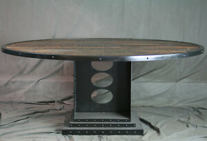 Vintage Industrial Large Dining Table Reclaimed Wood Conference Table Urban