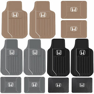 4pc Honda Elite Heavy Duty Rubber Front And Rear Floor Mats Set Black Gray Tan