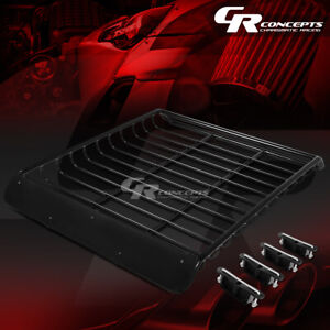 53 x 43 roof Rack Top Cargo Luggage Carrier Basket wind Fairing deflector Black