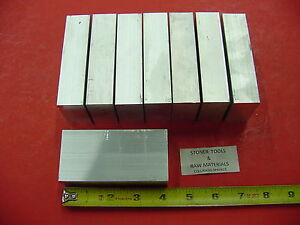8 Pieces 1 X 2 Aluminum 6061 Flat Bar 4 Long Solid Plate Mill Stock 1 00 x 2