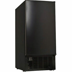 Sleek Built in Clear Cube Ice Maker Undercounter All black Compact Ice Machine