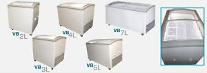 Commercial Curved Lid Display Freezer W led vb 2l