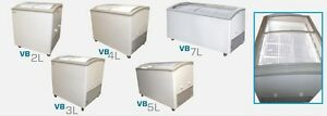 Commercial Curved Lid Display Freezer W led vb 4l