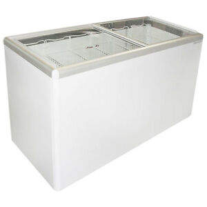 Commercial Flat Lid Display Freezer W sliding Glass euro 16