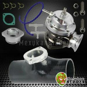 25 Psi Polished Turbo Type Rs Blow Off Valve 2 5 Bov Silicone Adapter Black