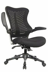 Executive Ergonomic Mesh Office Chair Flip Up Armrest Molded Seat With A 55 Kg