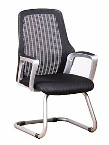 Ergonomic Mesh Guest Chair Side Visitors Waiting Room Reception Sled Base Office